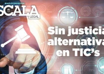 Sin justicia alternativa en TIC's